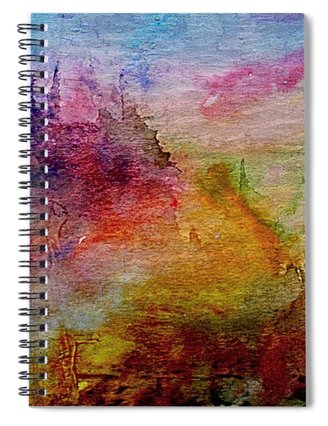 1a Abstract Expressionism Digital Painting Spiral Notebook