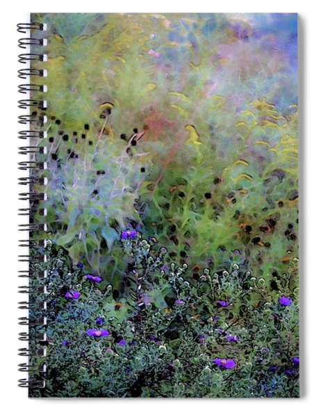 Digital Watercolor Field Of Wildflowers 4064 W_2 Spiral Notebook