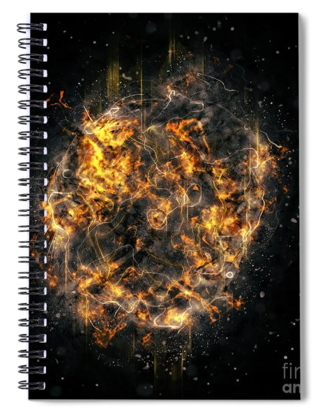 Digitally Created Exploding Supernova Star  Spiral Notebook