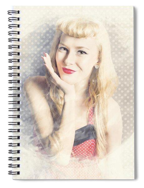 Diner Window Pin Up  Spiral Notebook