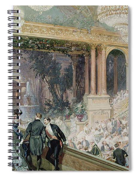Dinner At The Tuileries Spiral Notebook