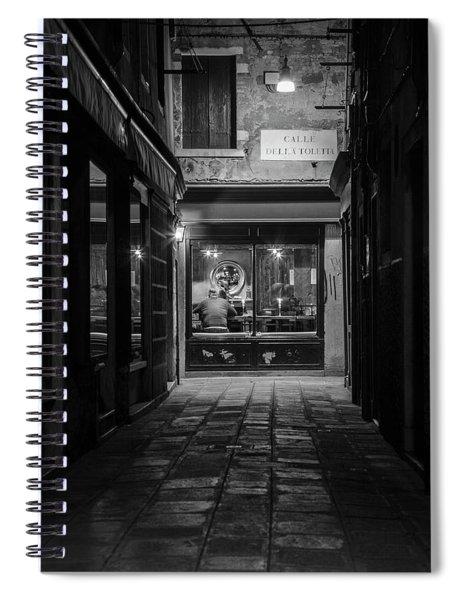 Dinner In Venice  Spiral Notebook