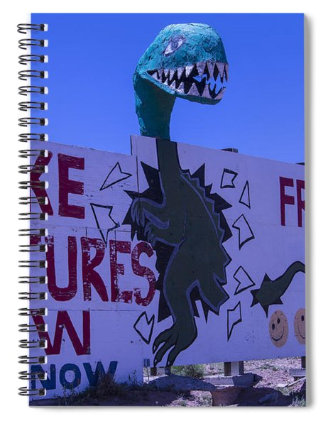 Dinosaur Sign Take Pictures Now Spiral Notebook