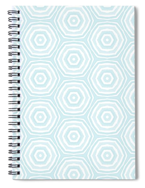 Dip In The Pool -  Pattern Art By Linda Woods Spiral Notebook
