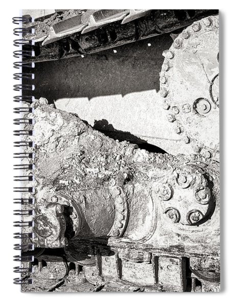 Dirty Industry Track And Cog Spiral Notebook