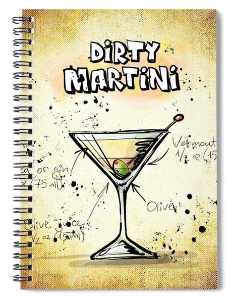 Dirty Martini  Spiral Notebook