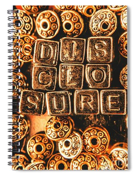 Disclosure Spiral Notebook