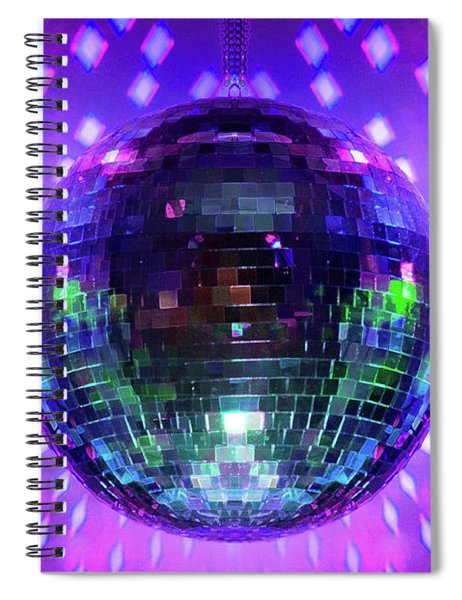 Disco Ball Purple Spiral Notebook