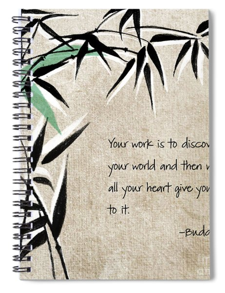 Discover Your World Spiral Notebook by Linda Woods