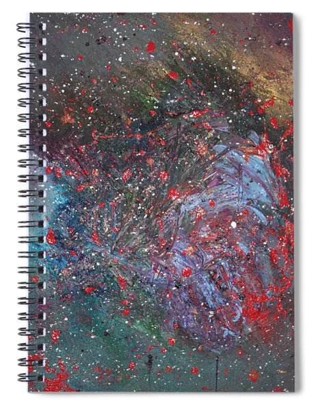 Spiral Notebook featuring the painting Discovery by Michael Lucarelli