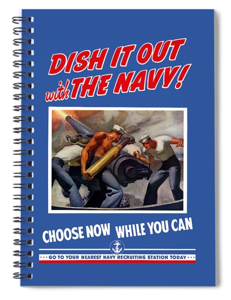 Dish It Out With The Navy Spiral Notebook