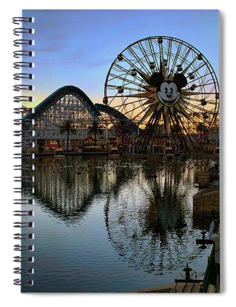 Disney California Adventure Panorama Spiral Notebook