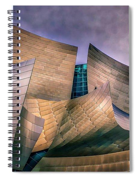 Disney Concert Hall At Dusk Spiral Notebook