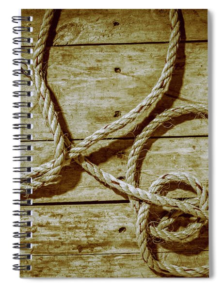 Dispatched Ropes And Voyages Spiral Notebook