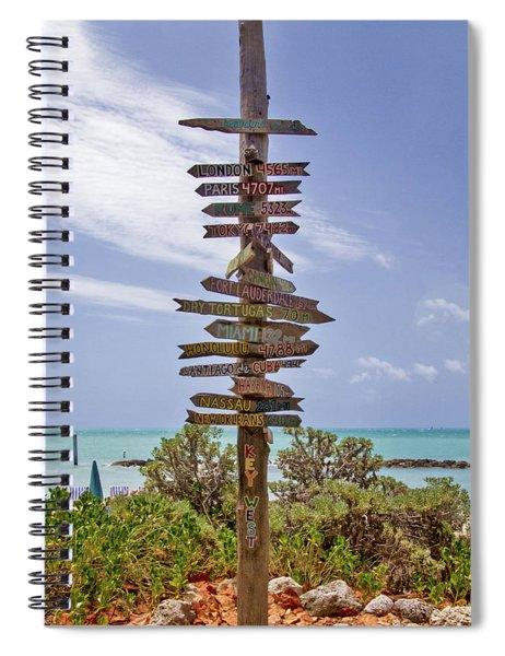 Distance From Key West Spiral Notebook