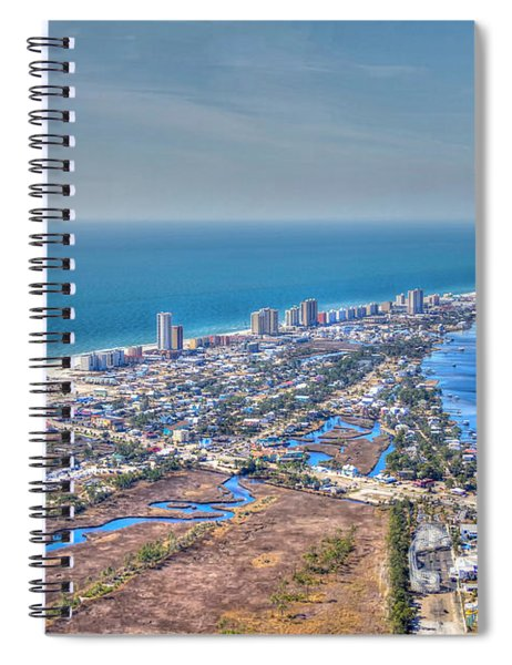 Distant Aerial View Of Gulf Shores Spiral Notebook