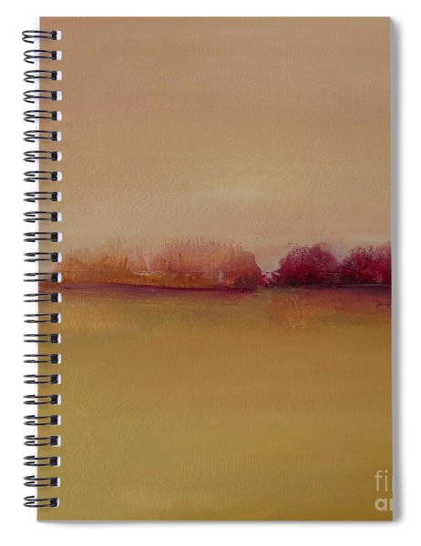 Distant Red Trees Spiral Notebook