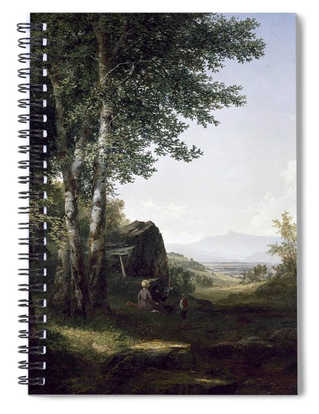 Distant View Of The Mansfield Mountain Vermont Spiral Notebook