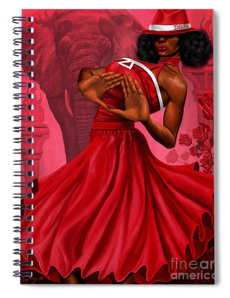 Divine Red And White Spiral Notebook