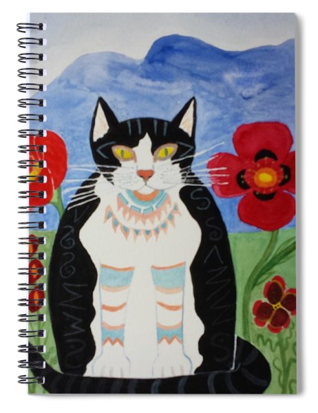 Diwali Tux Cat Spiral Notebook