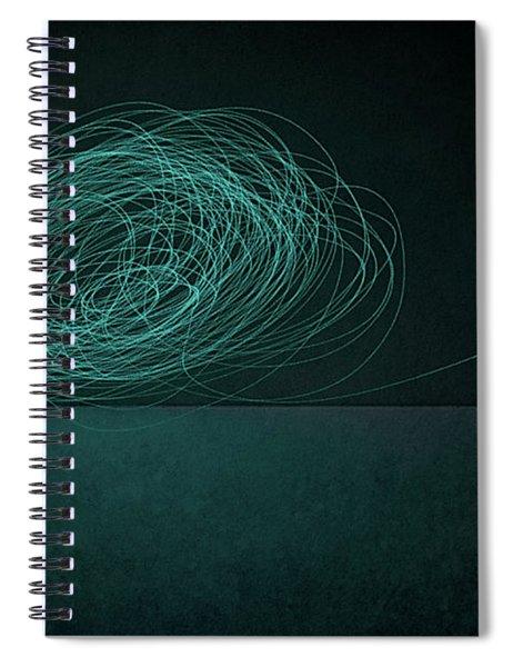 Dizzy Moon Spiral Notebook