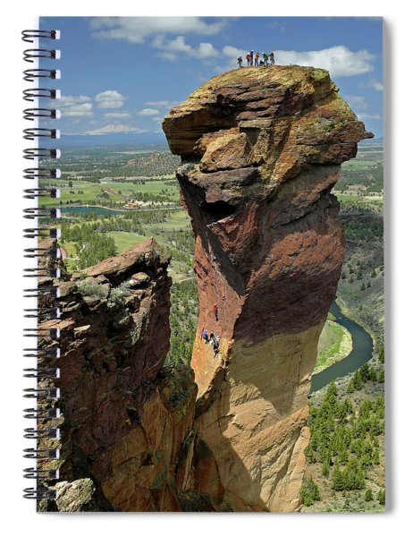 Dm5314 Climbers On Monkey Face Rock Or Spiral Notebook