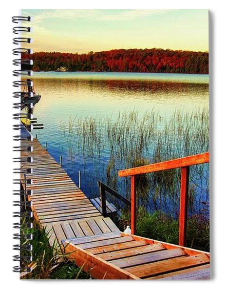 Dock At Gawas Bay Spiral Notebook