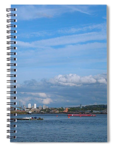 Docklands And Skyline Spiral Notebook