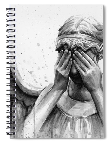 Doctor Who Weeping Angel Don't Blink Spiral Notebook