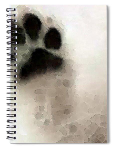 Dog Art - I Paw You Spiral Notebook