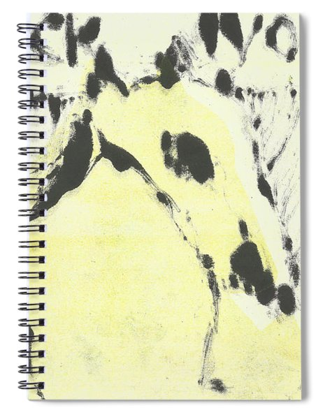 Dog At The Beach - Black Ivory 1 Spiral Notebook