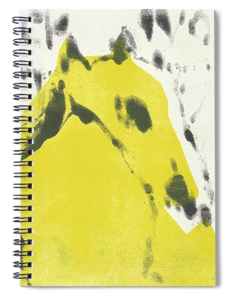 Dog At The Beach - Black Ivory 2 Spiral Notebook