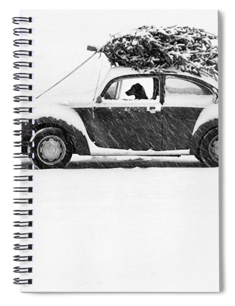 Dog In Car  Spiral Notebook