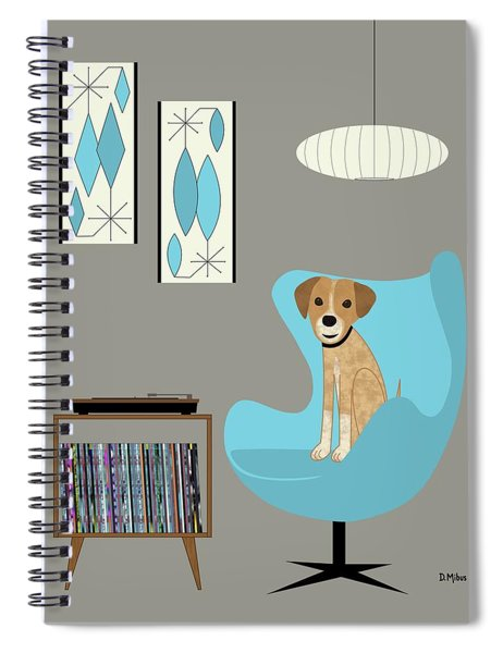 Dog In Egg Chair Spiral Notebook