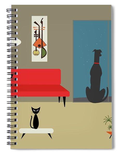 Dog Spies Alien Spiral Notebook