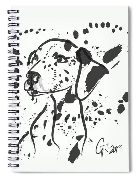 Dog Spot Spiral Notebook