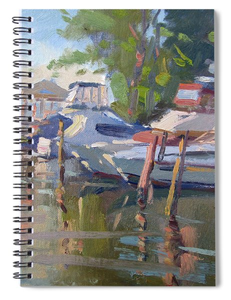 Docks At The Shores  Spiral Notebook