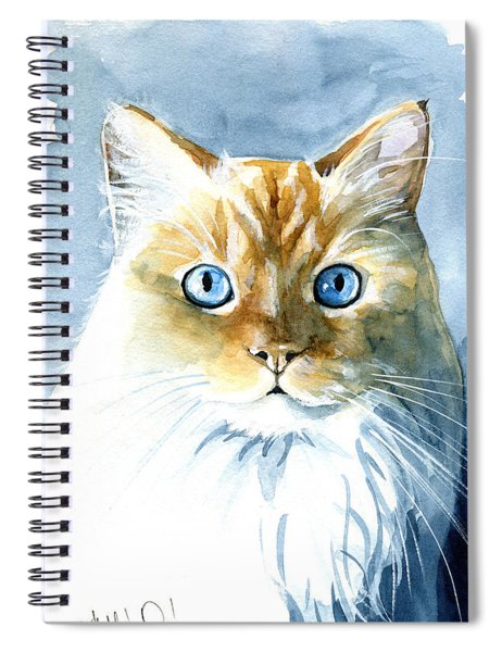 Doll Face Flame Point Himalayan Cat Painting Spiral Notebook