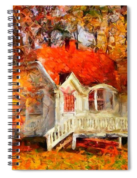 Doll House And Foliage Spiral Notebook