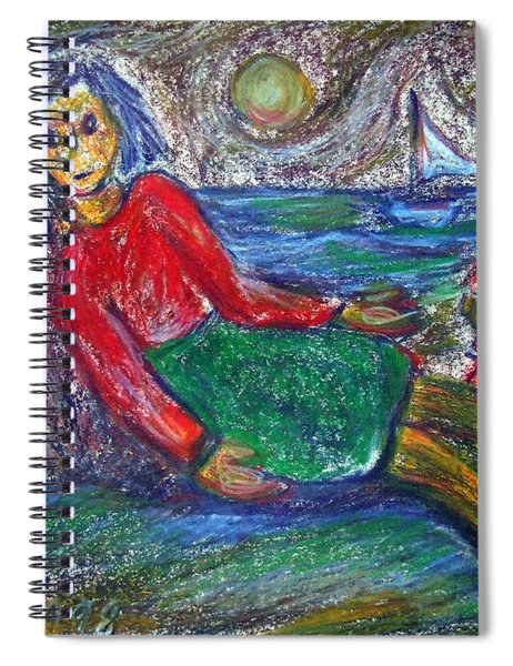 Dolls On The Beach Spiral Notebook