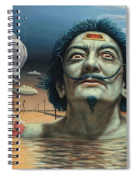 Spiral Notebook featuring the painting Dolly In Dali-land by James W Johnson