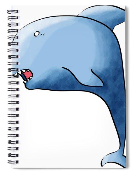 Dolphin Blue Spiral Notebook