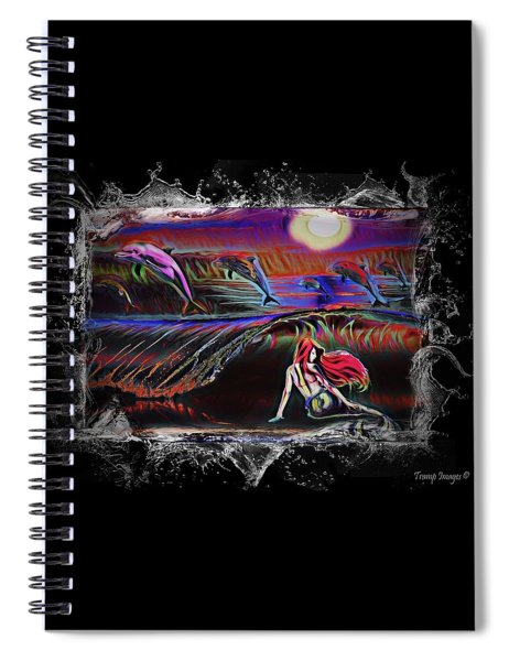 Dolphins Play Spiral Notebook