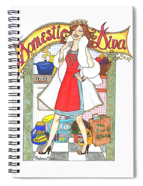 Domestic Diva Spiral Notebook