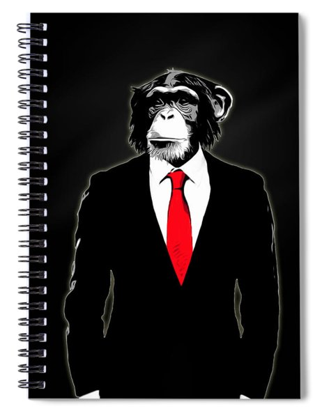Domesticated Monkey Spiral Notebook