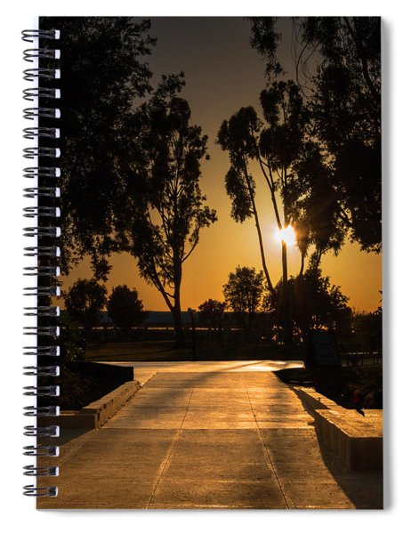Dominguez Hills Sunset Spiral Notebook