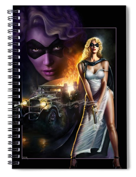 Domino Lady Spiral Notebook