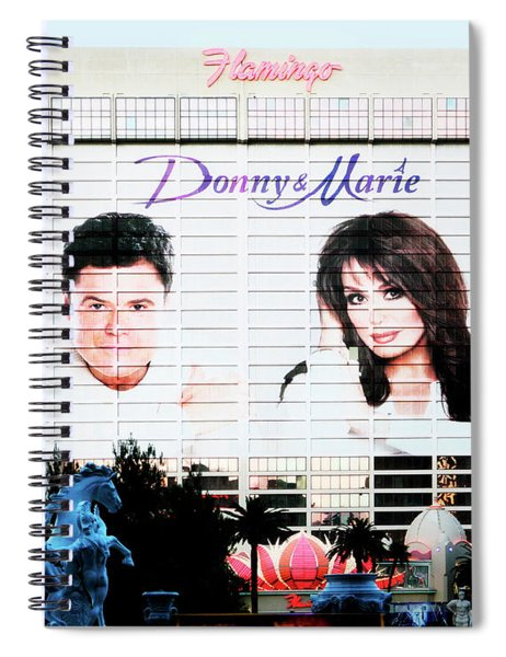 Donny And Marie Osmond Large Ad On Hotel Spiral Notebook
