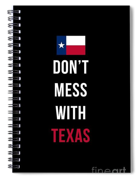 Don't Mess With Texas Tee Black Spiral Notebook