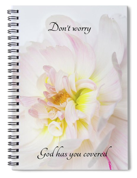 Don't Worry Square Spiral Notebook